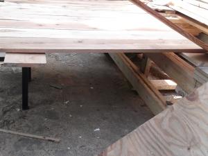 DIY Cedar Headboard